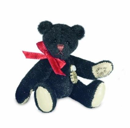 Hermann Teddy Teddybär mini schwarz 6 cm