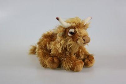 Hochlandrind Kuh braun 35 cm