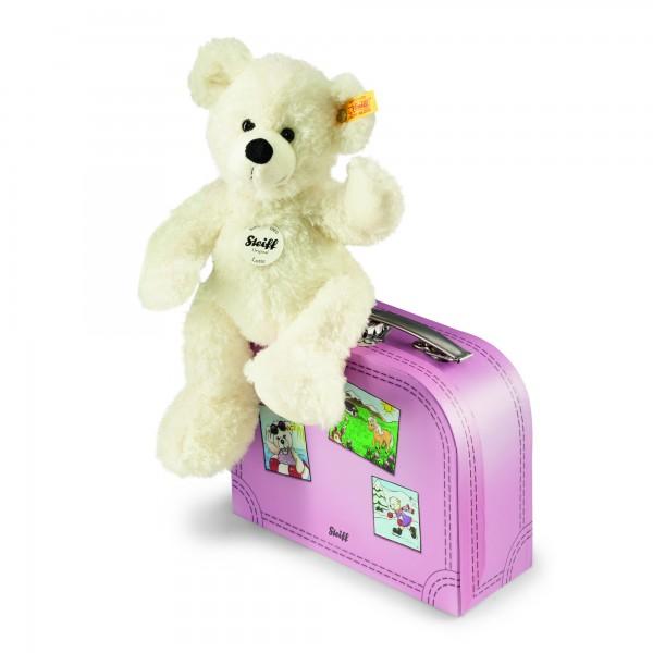 Steiff Lotte weiss mit Koffer pink 28 cm