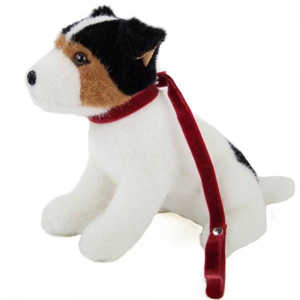 KÖSEN Jack Russel Terrier an der Leine, sitzend, 22 cm