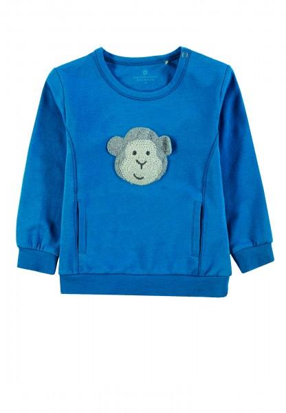 Sweater dunkelblau mit Affe (quietscht)