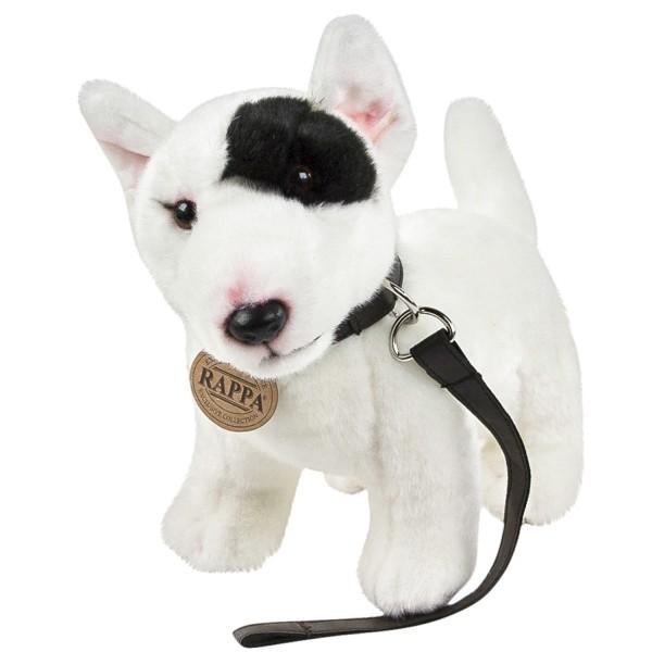 Englischer Bullterrier mit Leine 23 cm Kuscheltier Hund