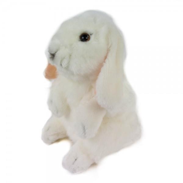 Hase sitzend weiß 18 cm